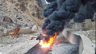 حادثه شکستگی لوله انتقال نفت در منطقه میانکوه