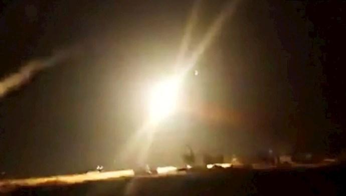 حملات هوایی به سیستم دفاع موشکی سوریه و مواضع شبهنظامیان رژیم ایران