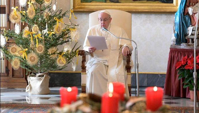 پیام پاپ فرانسیس بهمناسبت کریسمس