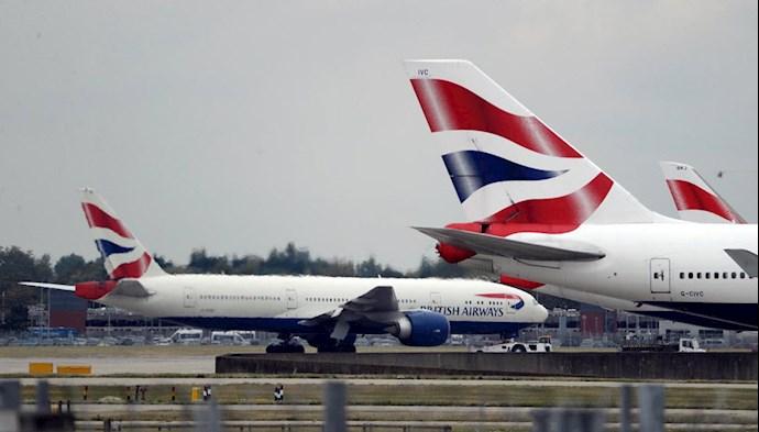 توقف پروازها به انگلستان