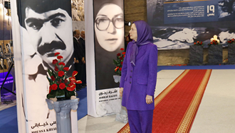 مریم رجوی - گرامیداشت شهیدان ۱۹ بهمن ۶۰ در موزه مقاومت – اشرف۳