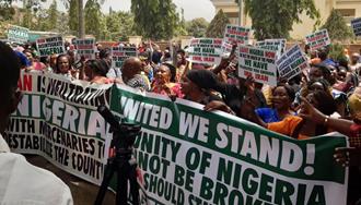 تظاهرات در مقابل سفارت رژیم ایران در پایتخت نیجریه