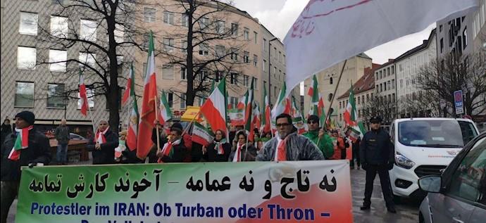 تظاهرات ایرانیان آزاده و حامیان مقاومت