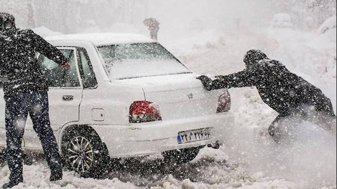 بارش برف سنگین در گیلان