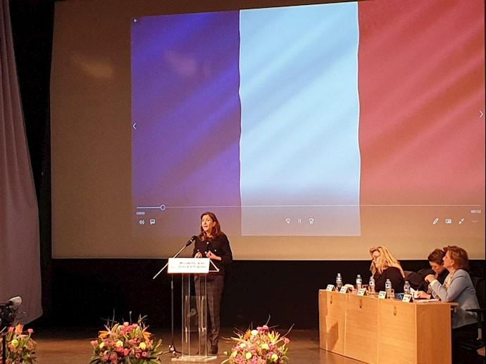 برگزاری روز جهانی زن در استکهلم سوئد - سخنرانی خانم بتانکور
