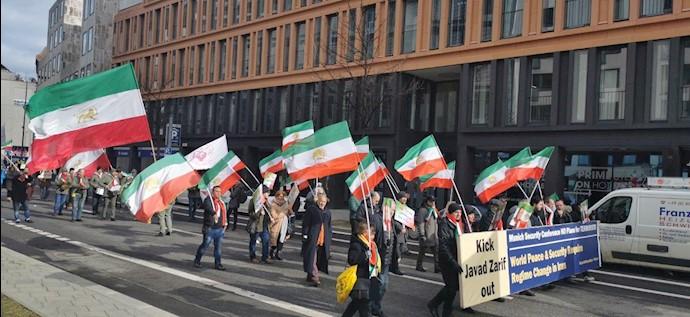 تظاهرات ایرانیان آزاده و حامیان مقاومت در مونیخ