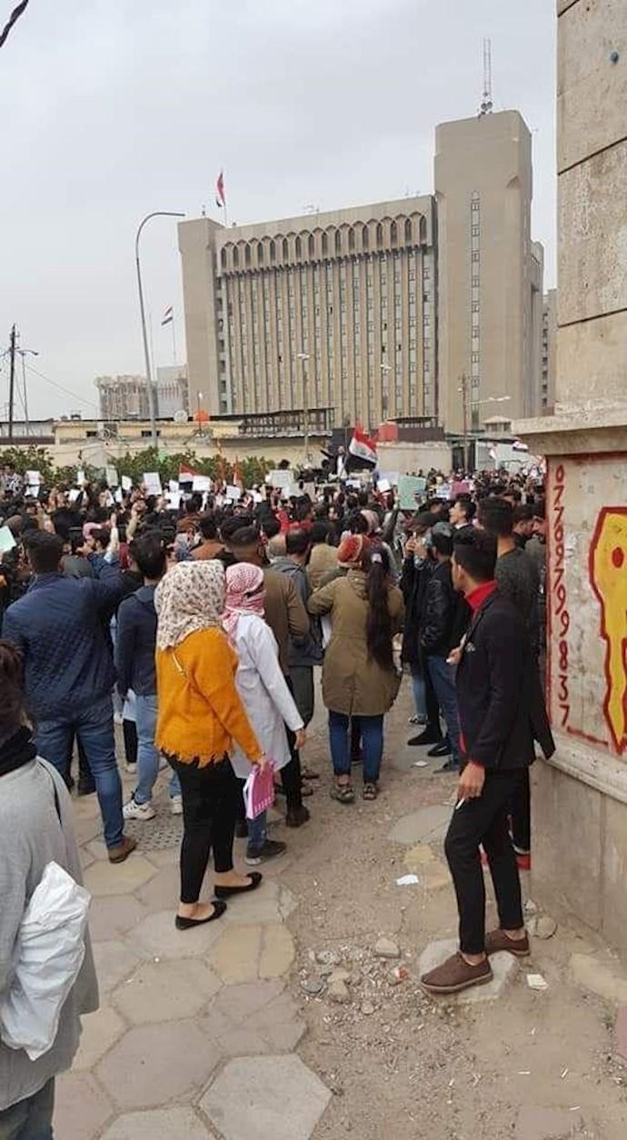 تظاهرات و راهپیمایی دانشجویان در بغداد -۲۷بهمن