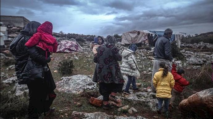 بیش از ۸۰۰هزار آواره دیگر در سوریه براثر حملات جنایتکارانه اسد
