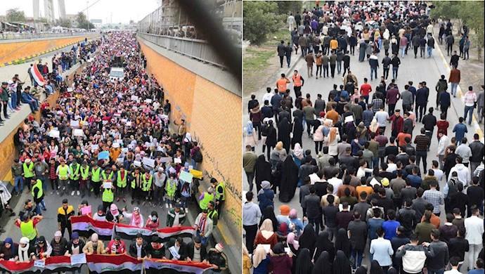 تظاهرات دانشجوین در عراق  - ۲۷بهمن۹۸