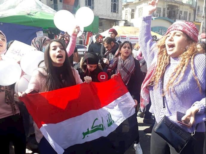 میدان تحریر بغداد- تظاهرات زنان -۲۵بهمن