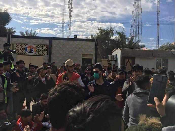 تظاهرات و راهپیمایی دانشجویان در میسان -۲۷بهمن