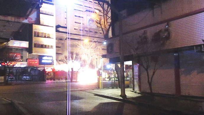 انفجار در ورودی ساختمان وزارت کشور رژیم در تهران