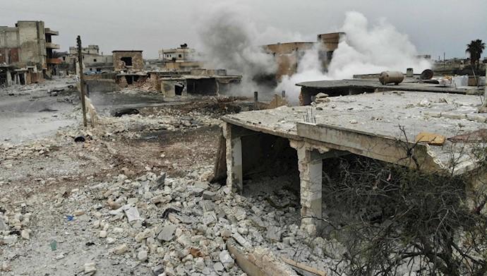 حملات رژیم اسد به ادلب