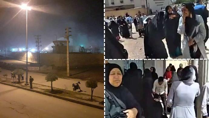 تجمع خانواده زندانیان مقابل زندان سپیدار اهواز - ۱۲فروردین۹۹