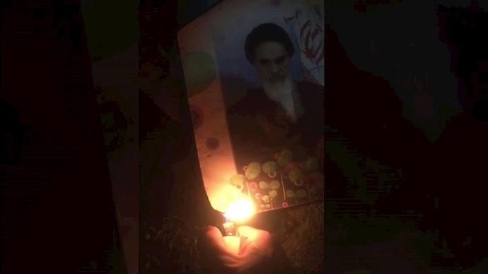 به آتش کشیدن تصاویر خمینی دجال در چهارشنبه سوری، رسم سالیانه ایرانیان آزاده