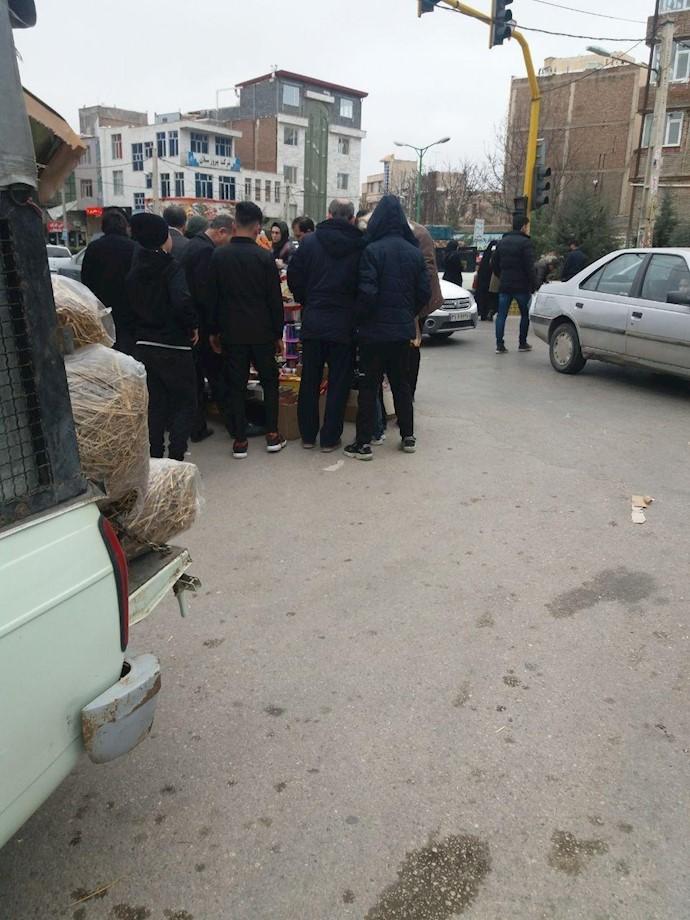 اردبیل - فروش مواد چهارشنبه سوری..فلسطین