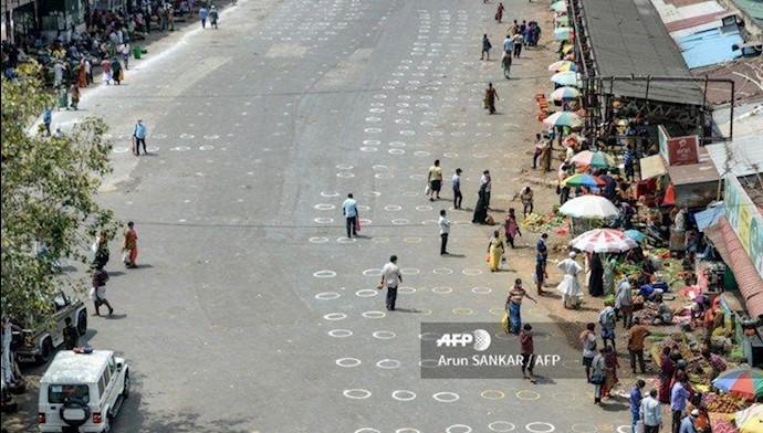 رعایت فاصله انسانی در هند