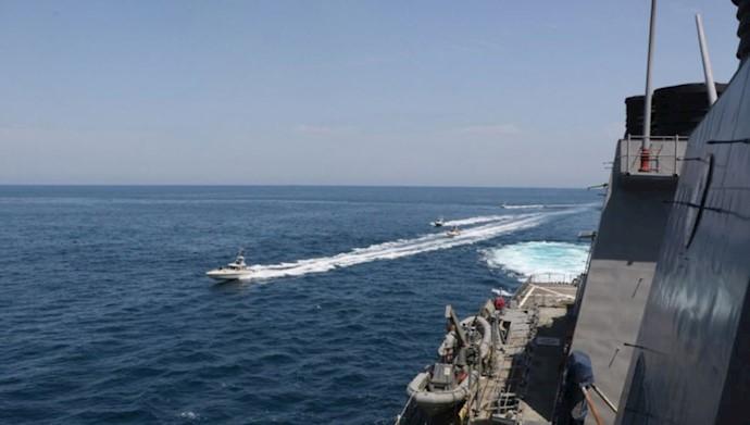مزاحمت قایق های سپاه پاسداران