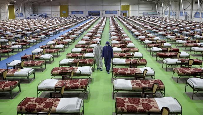 آماده کردن تعدادی تخت بعنوان تختهای بیمارستانی برای بیماران کرونایی توسط رژیم ایران
