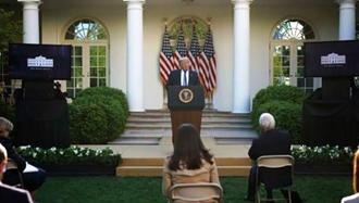 کنفرانس خبری ترامپ در کاخ سفید