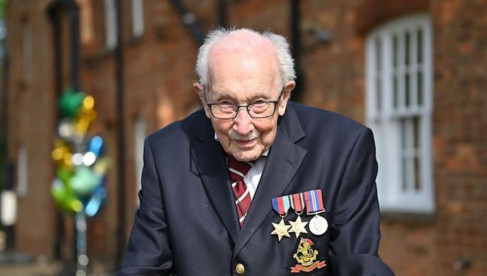 تام مور کهنه سرباز ۹۹ ساله انگلیسی