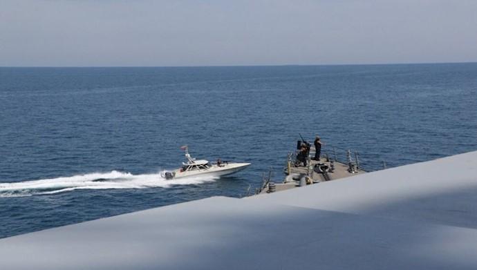 اقدام تحریک آمیز قایق های سپاه پاسداران