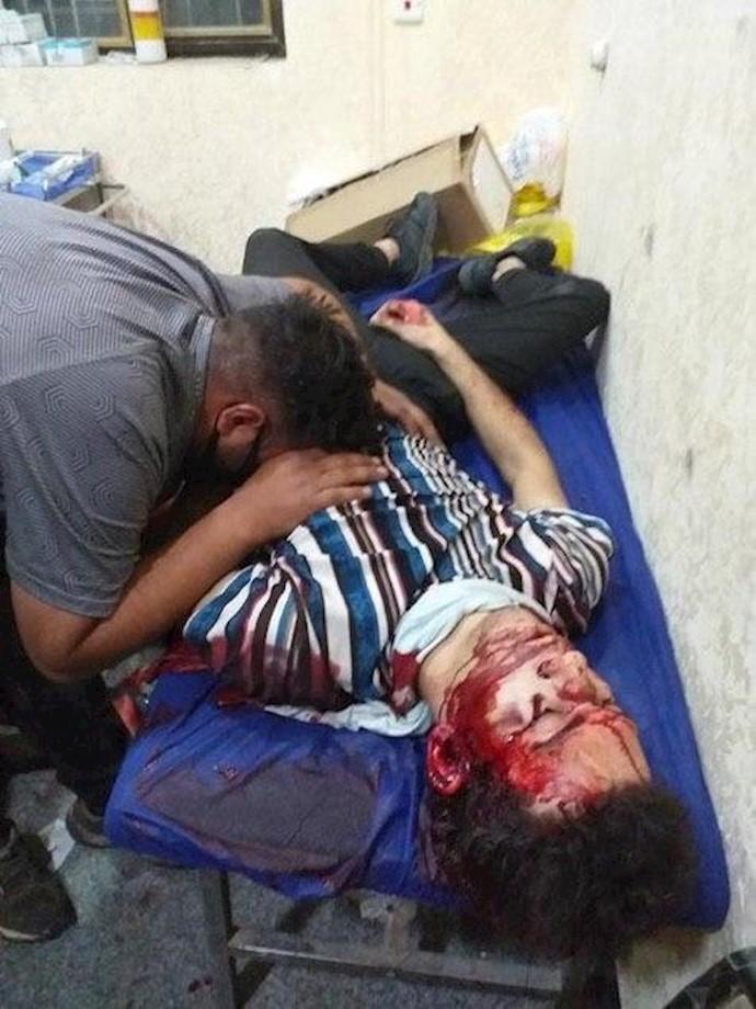 شهادت یکی از جوانان قیام در میدان حبوبی در ناصریه