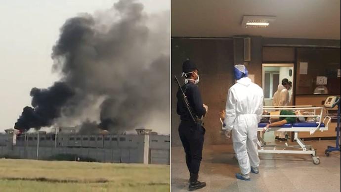 مشاهده مجروحین شورشی زندانهای اهواز در بیمارستان موسوم به امام اهواز