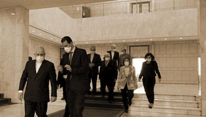 دیدار جواد ظریف با دیکتاتور سوریه
