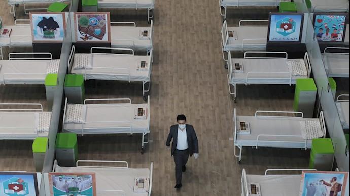 تختهای بیمارستانی مربوط به بیماران کرونایی