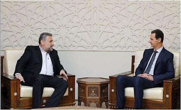 دیدار بشار اسد با حشمت الله فلاحتپیشه عضو کمیسیون امنیت ملی و سیاست خارجی مجلس ارتجاع و رئیس سابق این کمیسیون