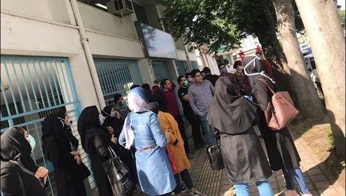 تجمع اعتراضی پرستاران در گیلان