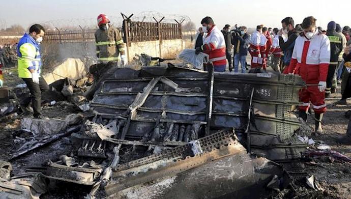 هواپیمای سرنگون شده اوکراینی
