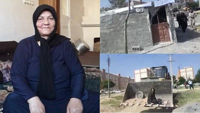 هجوم مزدوران شهرداری به خانه آسیه پناهی پیرزن کرمانشاهی