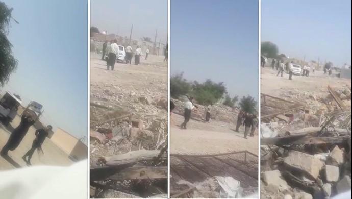 تخریب منازل شهروندان عرب خوزستانی در بهبهان توسط نیروهای سرکوبگر