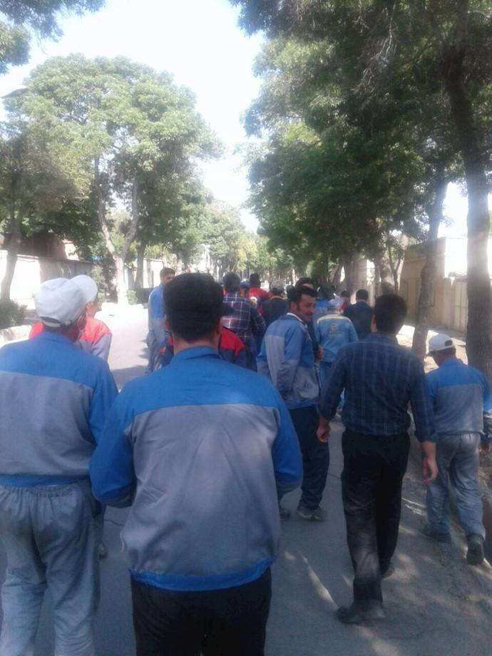 اراک. اعتصاب کارگران راهآهن