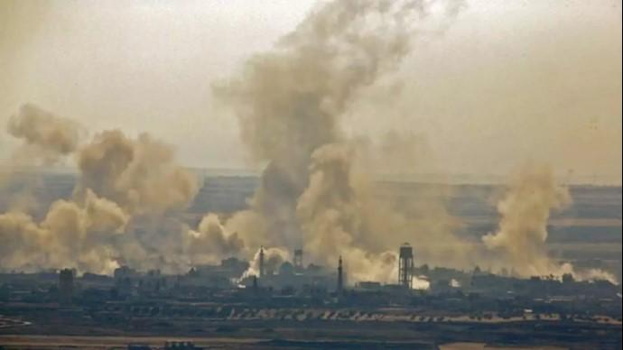 بمباران مواضع رژیم ایران در سوریه