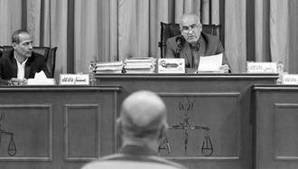 سومین جلسه محاکمه اکبر طبری معاون اجرایی آخوند صادق لاریجانی