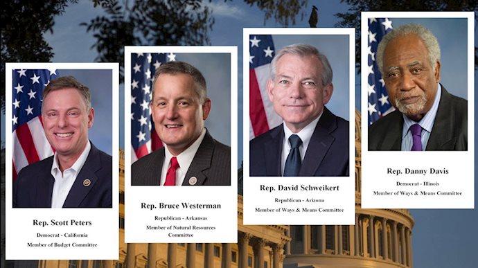 حمایت ۴تن از نمایندگان کنگره آمریکا از قطعنامه ۳۷۴