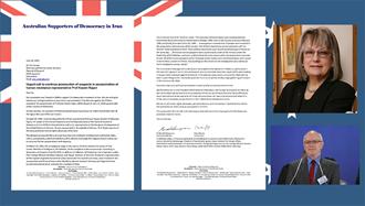 نامه کمیته استرالیائی های حامی دمکراسی در ایران