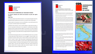 بیانیه کنفدراسیون سراسری ایتالیا برای کار (CGIL)  ـ استان پزارو-اوربینو