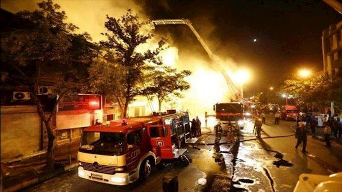 انفجار کلینیک سینا اطهر در خیابان شریعتی تهران