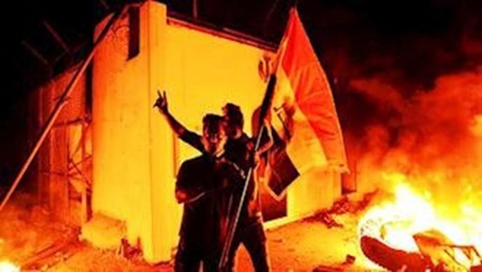 تظاهرات قیام کنندگان عراقی در بصره