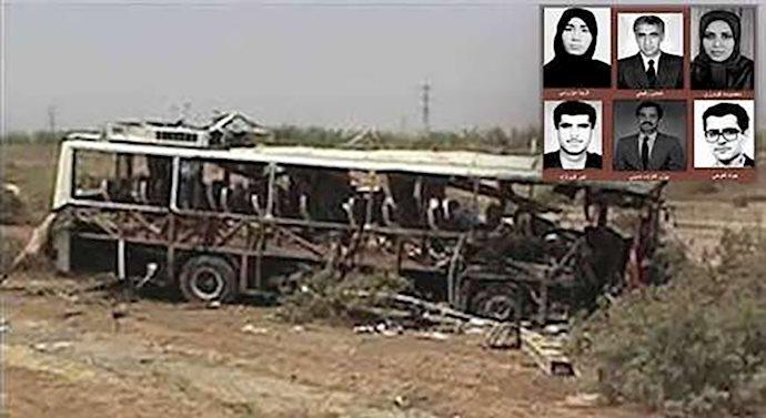 گرامی باد خاطره ۶ شهید مجاهد خلق، قربانیان انفجار اتوبوس