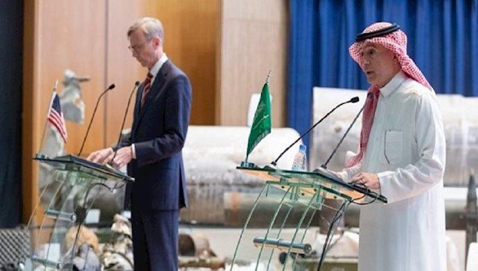 عادل الجبیر و برایان هوک در کنفرانس مطبوعاتی