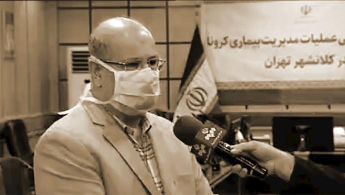 اعتراف زالی به افزایش مبتلایان به کرونا در تهران
