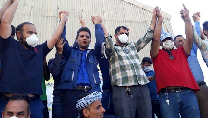 نهمین روز اعتصاب کارگران نیشکر  هفت تپه