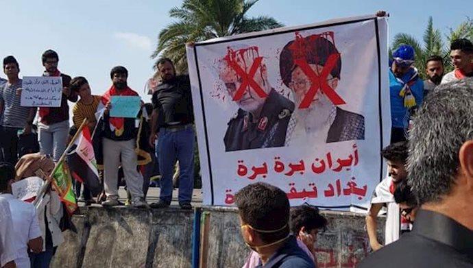 تخریب تصاویر خامنهای و قاسم سلیمانی در بغداد - آرشیو