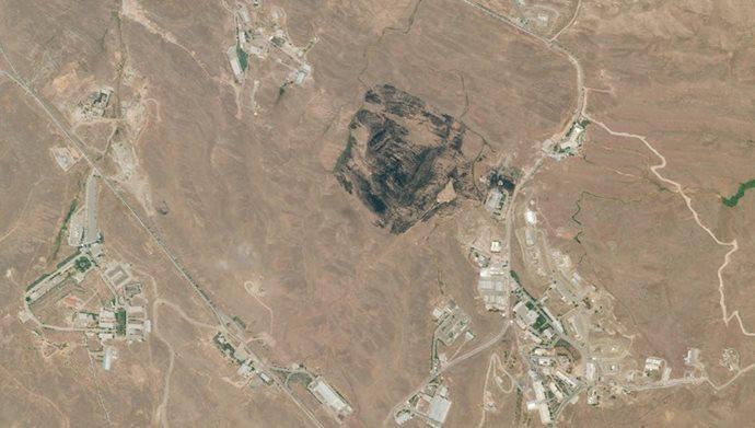 آثار انفجار در نزدیکی منطقه پارچین