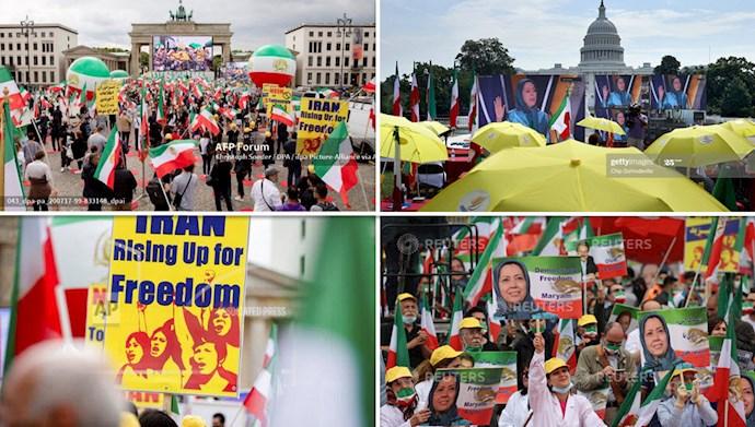 گردهمایی جهانی ایران آزاد  - تصاویری از خبرگزاریهای تصویری آسوشیتدپرس - گتی ایمیج و خبرگزاری  فرانسه